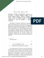National Power Corporation vs. Posada, 752 SCRA 550 , March 11, 2015