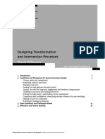 Designing Transformation and Intervention Processes