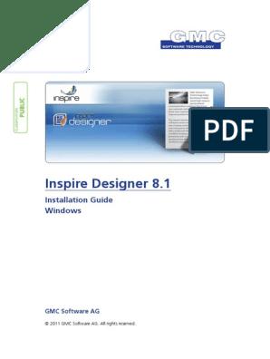 Inspiredesigner Installation Guide V8 1 0 1 Installation Computer Programs Command Line Interface