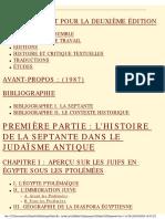 La Bible Grecque Des LXX - Étude (Cerf)