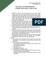 Studi Kasus Audit Atas Keterlambatan Produksi Di Pabrik Tekstil Milik Pt