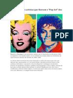 Os 5 Principais Artistas de Arte Pop 1960