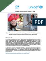 FR- Communiqué de Presse HCR UNICEF