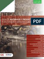 Guia Tecnica de Materiales y Productos Para Tuneles 2016