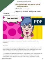 50 Erros de Português Que Você Não Pode Mais Cometer