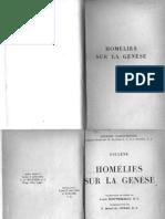 Origène - Homélies sur la Génèse