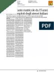 Mai così tante matricole da 15 anni. Il boom degli atenei italiani - La Repubblica del 13 giugno 2017