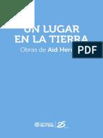 Catalogo 2017 Un Lugar en La Tierra. Obras de Aid Herrera