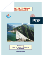 Impact of Tehri Dam Lessons Learnt