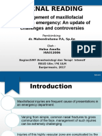 Management of Maxillofacial Trauma in Emergency an Update of Challenges and Controversies
