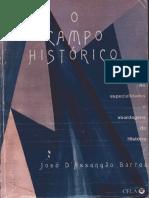 BARROS, José D'Assunção. O Campo Histórico. Ed Cela. 2002