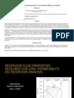 Reservoir Fluid Properties Required