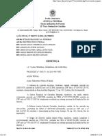 Sentença de condenação de Sérgio Cabral