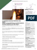 12 Consejos Budistas Para Una Vida Mejor