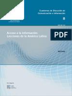 Acceso a la información, lecciones de la América Latina