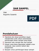 Besar-sampel Nugroho Notosusanto