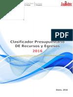 1 Clasificador Presupuestario 2016 - Copia