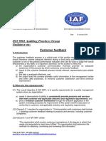 APG Customer feedback 2015