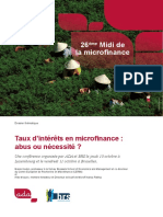 Dossier Thematique 26 Taux d Interet en Microfinance