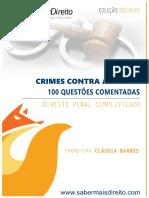 Crimes contra a pessoa - questões comentadas
