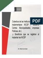 Cobertura de Las Instituciones Donde Se Implementaran NICSP y Beneficios Que Se Registran