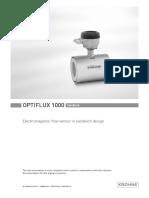 Krohne OPTIFLUX1000 Manual