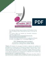 Jornadas FHCE 2017 Convocatoria GT 8 Filología Latina Clásica y Medieval