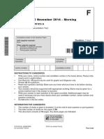 258953 Question Paper Unit a501 01 Unit a Foundation Tier