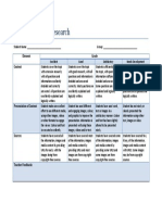 individual roles research rubric