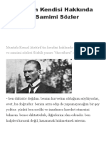 Atatürk'Ün Kendisi Hakkında Söylediği Samimi Sözler - Ekşi Şeyler