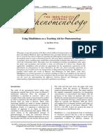 Mindfulness and Phenomenology