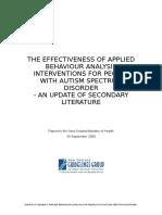 Effectiveness Applied Behaviour AJNHJHBlysis Interventions