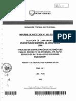 Modelo Informe de Auditoría OCI