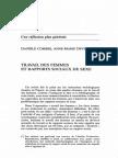 Travail Des Femmes Et Rapports Sociaux de Sexe. Danièle Combes, Anne-marie Devreux.