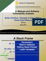 BufferOverFlow Gdb Example