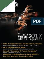 Cursos de Verano Ballet Folklórico de Amalia Hernández