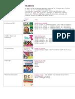 English Language Publications