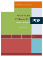 Manual de Instalacion MySQL
