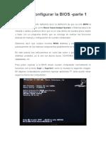 Como Configurar La BIOS