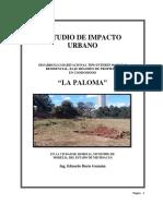 Estudio de Impacto Urbano - Altozano 2016 - La Paloma