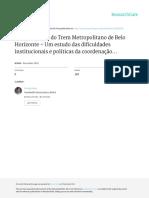 A implantação do Trem Metropolitano de Belo Horizonte, Um estudo das dificuldades institucionais e políticas da coordenação intergovernamental