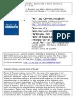 Community Communication and Participation
