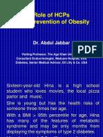 Dr Abdul Jabbar Role of Health AKU 2014