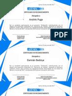 Certificados (Formato) Returnees