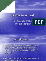 Discourse vs.text