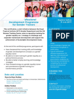 Certified Professional Development Programme for Gender Trainers (30)