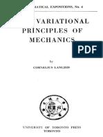 Variational Principles of Mechanics Lanczos