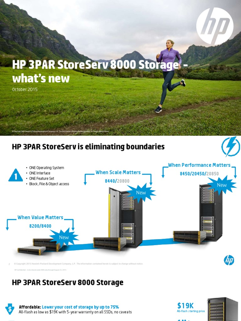 3PAR StoreServ 7000 vs 8000 Models | Solid State Drive | Hewlett Packard