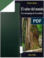 Le Breton David -El Sabor Del Mundo.pdf