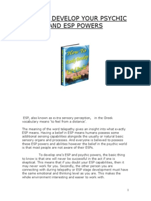 psychic-and-esp-powers pdf | Parapsychology | Psychic